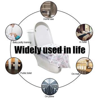 20PCS Disposable Toilet Seat Maternal Child Toilet Seat Toilet Training Seat Cover Waterproof Non-Slip Pregnant Women Toilet Mat 5