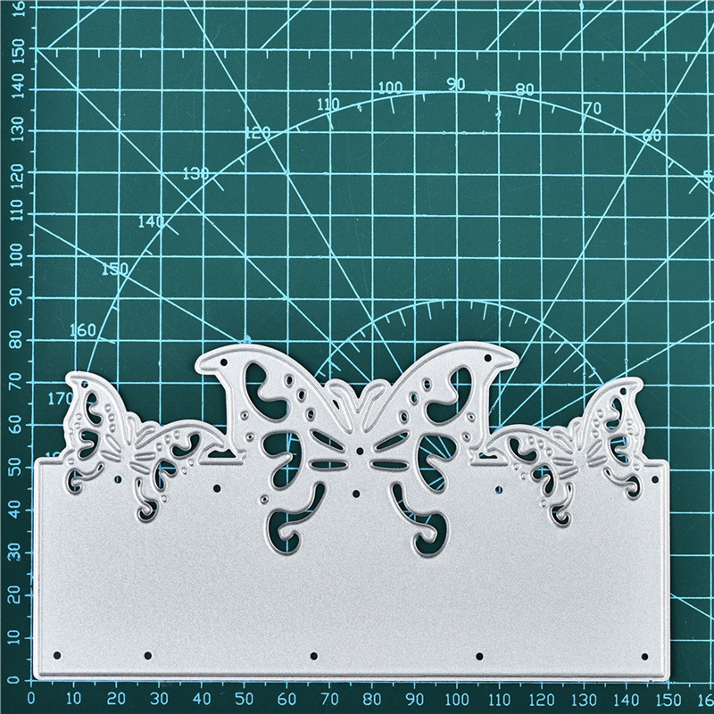 Naifumodo Butterfly Boder Dies Metal Cutting Dies for Card Making Scrapbooking Dies Embossing Stencil Craft Frame Dies in Cutting Dies from Home Garden