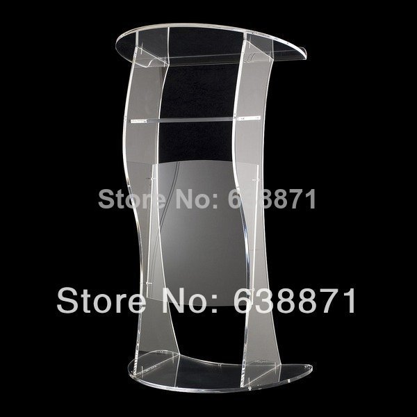 Free Shiping Beautiful Modern Design Customized Acrylic Lectern