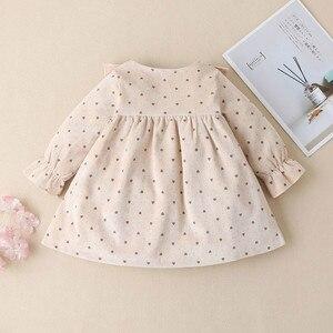Одежда для малышей с длинными рукавами для маленьких девочек, с принтом в виде сердечек, кружевное платье принцессы для девочек, платье принцессы, платья для девочек, prinsessenjurken meisjes E1|Платья|   | АлиЭкспресс