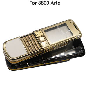 Image 5 - Full Housing For Nokia 8800 Arte Carbon 8800 ARTE Sapphire Back Battery Cover Middle Frame Plate With Keyboard Button