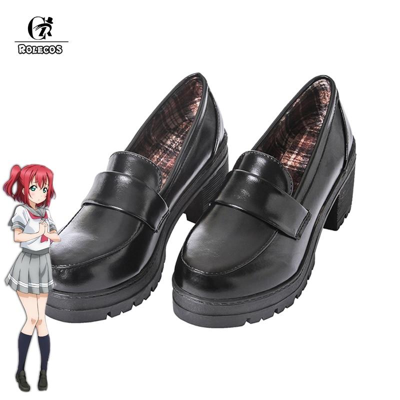 Japanese Anime Black School Shoes