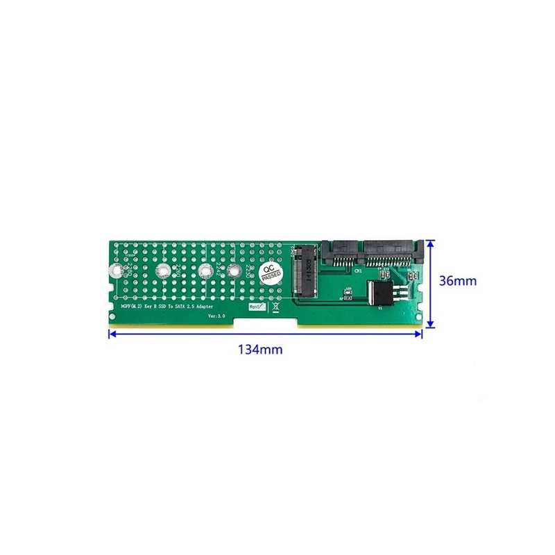 M.2 NGFF B SSD Kunci untuk SATA Adaptor DDR Slot Memori Papan Ekspansi Raiser Riser Kartu Dukungan 2230 2242 2260 2280 M2 SSD