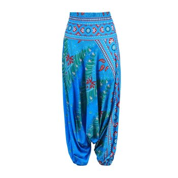 Ethnic Style 3D Print India Belly Dance Pants Wide Leg Loose Casual Yoga Trousers Fashion Fitness Pants for Women spring women yoga set linen loose wide leg yoga pants yoga shirts martial arts kungfu meditation tai chi uniforms yoga clothing