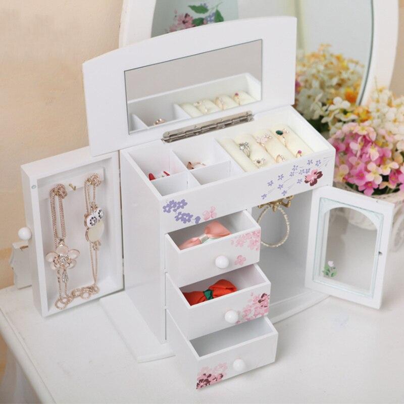 cuidados com a pele jóias batom rack caixa de armazenamento