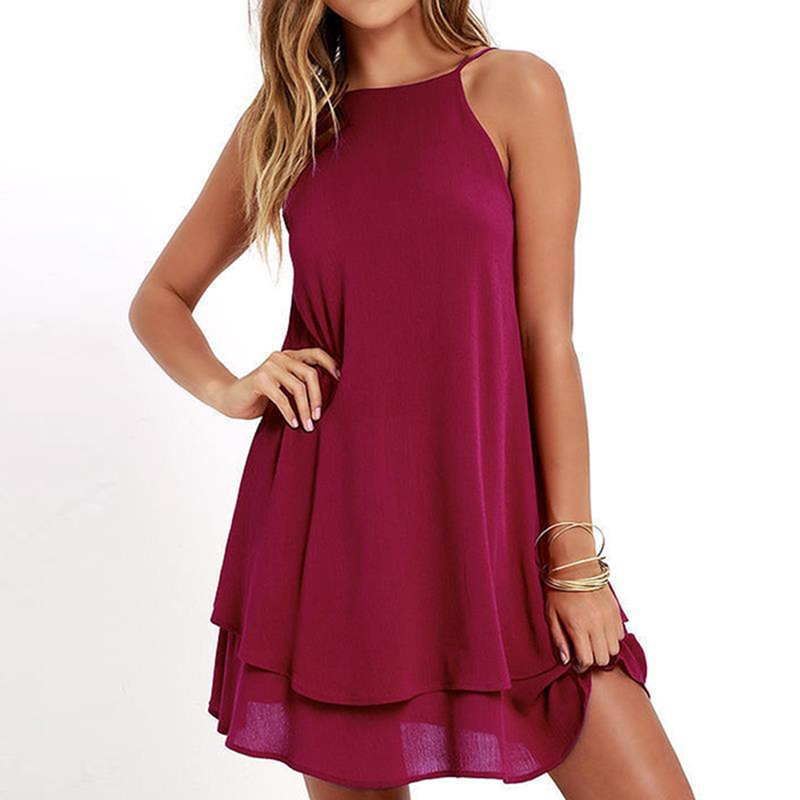 New Chiffon <font><b>Dress</b></font> <font><b>Sexy</b></font> <font><b>Mini</b></font> <font><b>Casual</b></font> <font><b>Dresses</b></font> <font><b>Spaghetti</b></font> <font><b>Strap</b></font> A Line Off Shoulder <font><b>Dresses</b></font> Cocktail Party Clothes Vestidos image