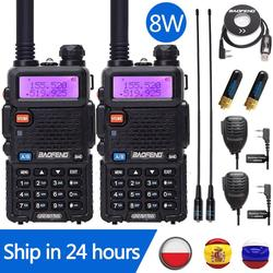 2 pcs Baofeng UV-5R 8W High Powerful 10km Long Range Walkie Talkie Tri-power 8/4/1Watts CB Ham Portable Radio UV5R for BF-F8HP