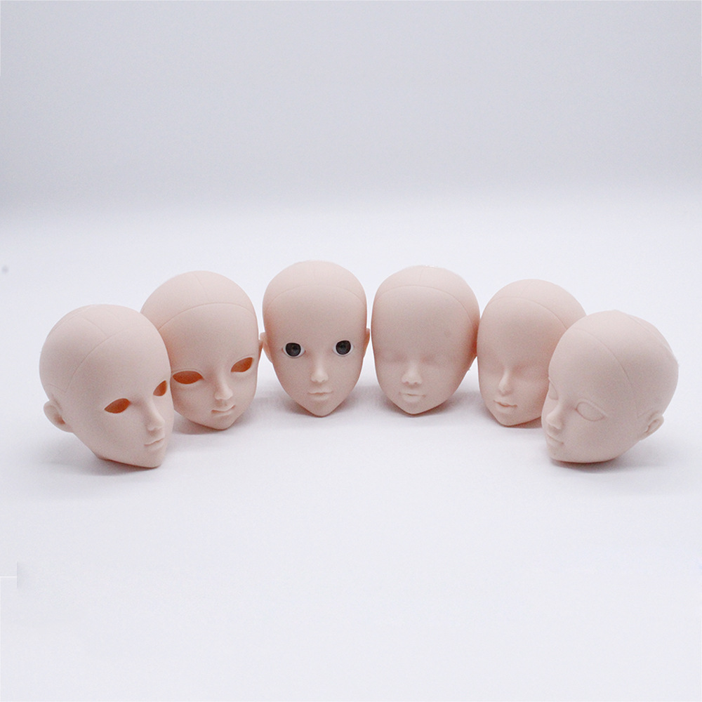 1/6 Soft Plastic Practice Makeup Doll Heads For Barbies BJD Dolls Changing Makeup DIY Doll Cosplay Accessories For Girls