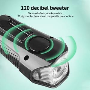 Image 5 - Waterproof Bicycle Light USB Charging Bike Front Light Flashlight Handlebar Cycling Head Light Waterproof Speed Meter LCD Screen