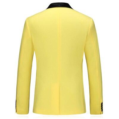 3 Piece Suits Men Yellow Desiger Slim Fit Plus Size 5XL Takım Elbise Boys Wedding Suits Party Dress Tuxedo Mens Suit 2020 New - 4