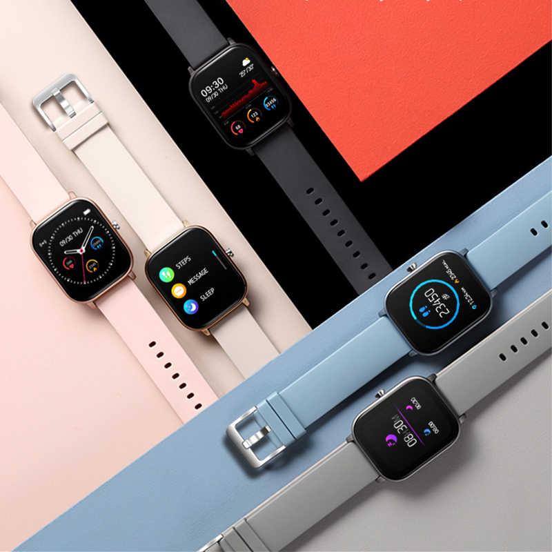 Lige 2020 novo relógio inteligente homem freqüência cardíaca monitor de pressão arterial 1.4 Polegada tela sensível ao toque completo fitness tracker feminino relógio inteligente + caixa