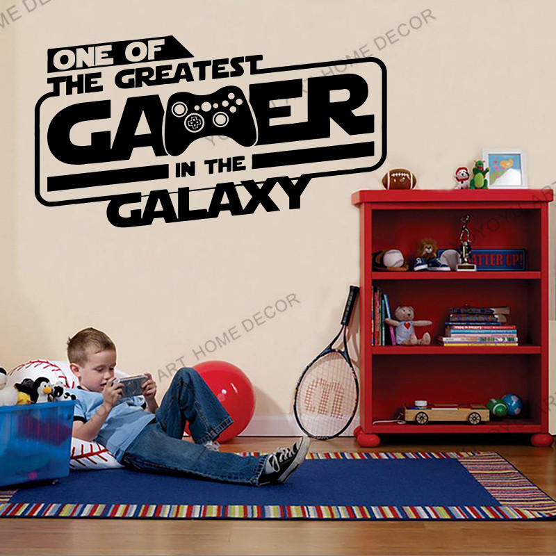 Gamer Star Wars wall Sticker Eat Sleep Game Gift Controller video game wall decor Customized For Bedroom Vinyl Wall Decals wx138 image