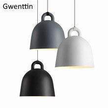 İskandinav Modern yemek odası kolye ışık danimarka Normann çan Hanglamp restoran mutfak ışığı fikstürü ev Loft dekor armatür
