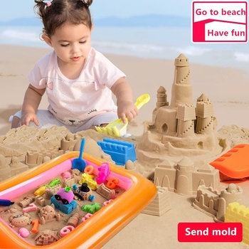 1000g Dynamic Sand Play Toys Magic Clay Molding Colored Soft Slime Space Sand Supplies Play Sand for ChildrenToys Set 100g bag soft magic sand diy dynamic sand indoor playing toys for children modeling clay slime play learning educational