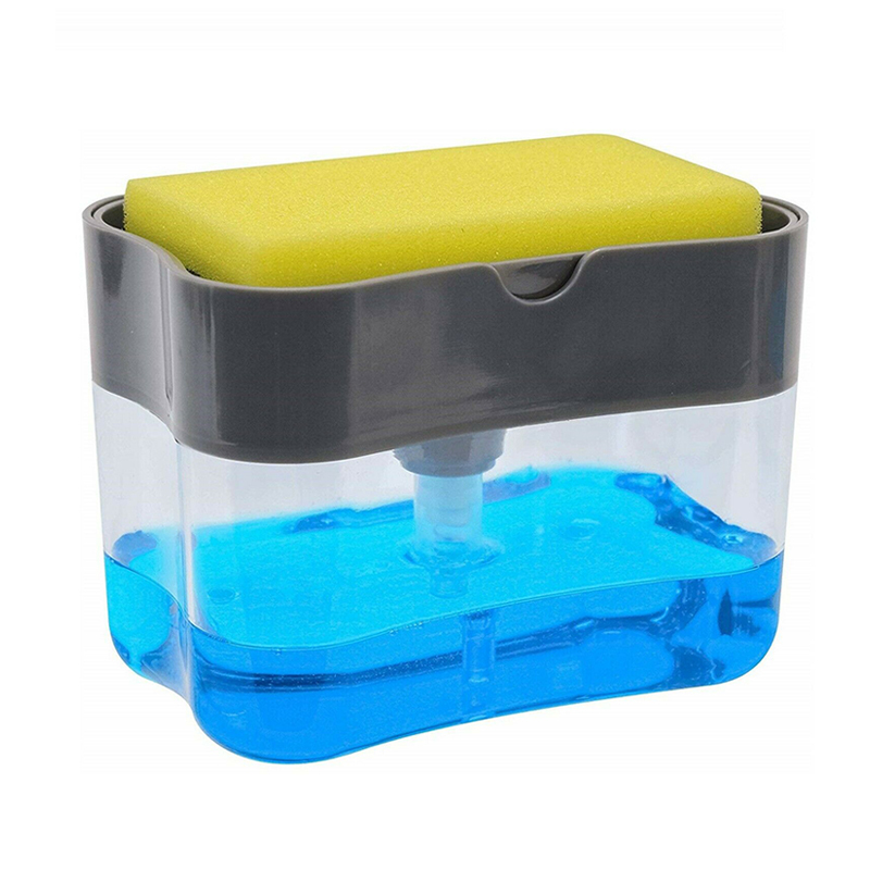 US $2.8 15% OFF 1PCS New 2 in 1 Liquid Soap Dispenser Pump And Sponge Caddy  For Dish Soap And Sponge 13 Ounces Home Bathroom Kitchen Accessories on ...