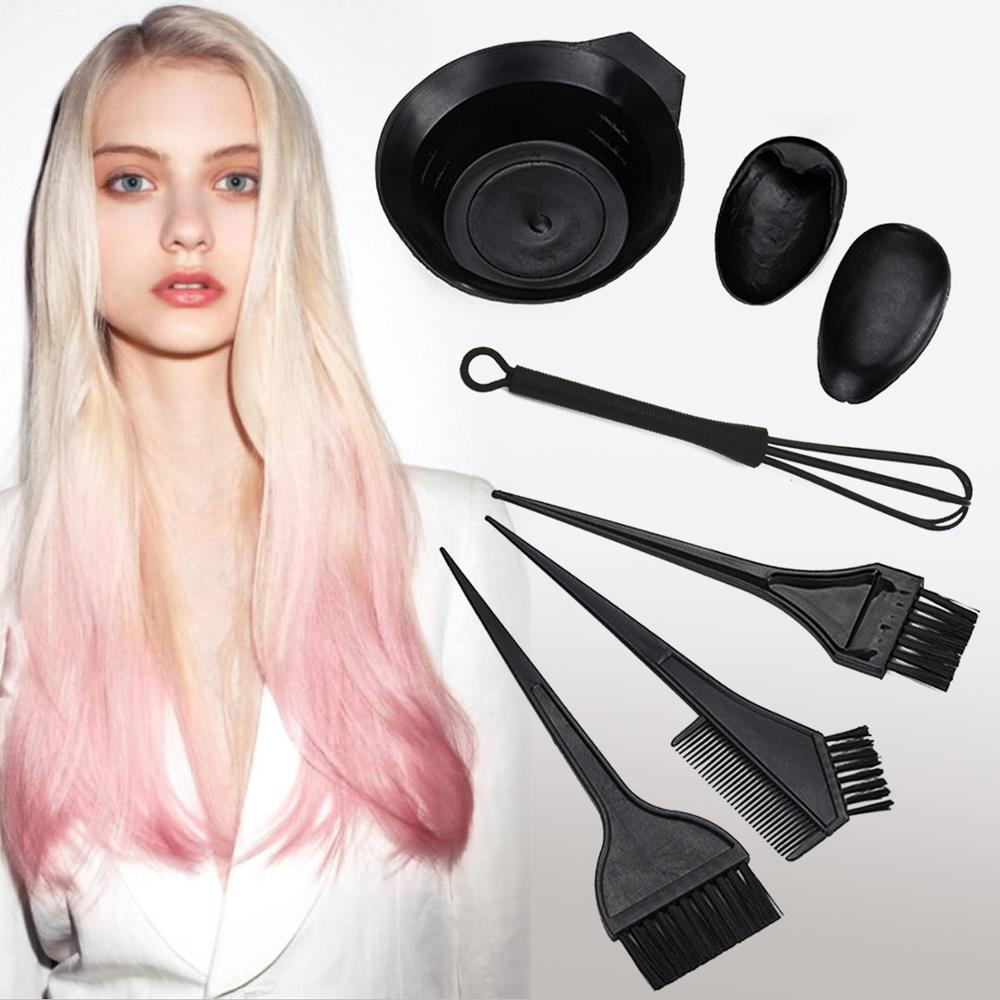 6PCS Hairdressing Salon Set Hair Color Mixing Kit Hair Dyeing Tint Brush Comb Bowl Whisk Hair Dye DIY Tool Hair Tint