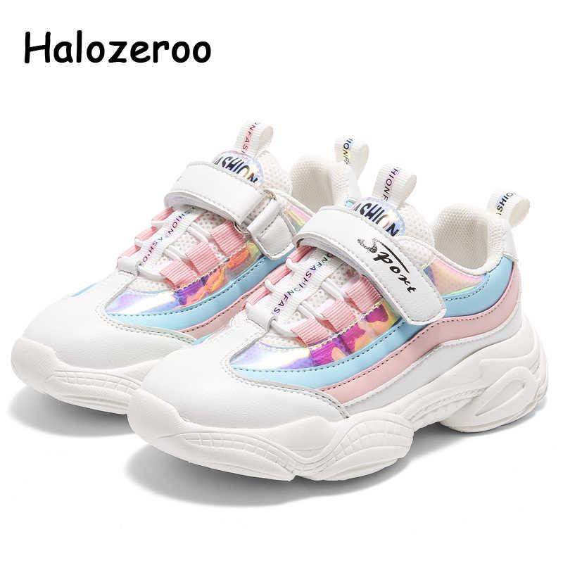 Musim Semi Anak-anak Olahraga Sneakers Bayi Gadis Glitter Casual Sneakers Anak Laki-laki Merek Sepatu Lari Anak Merah Muda Chunky Sepatu Pelatih
