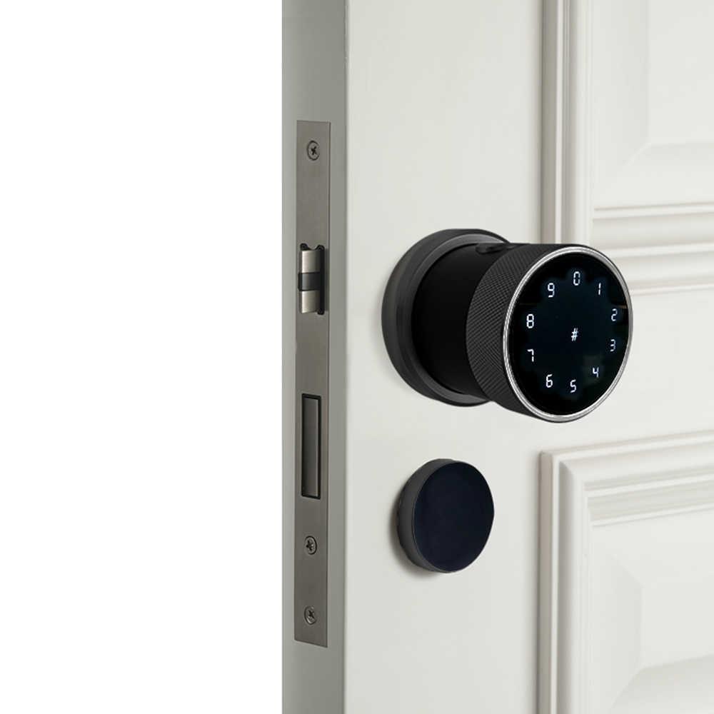บลูทูธ TT ล็อค Biometric ลายนิ้วมือกันน้ำ wifi ดิจิตอลอิเล็กทรอนิกส์ RFID คีย์สมาร์ทประตูล็อค