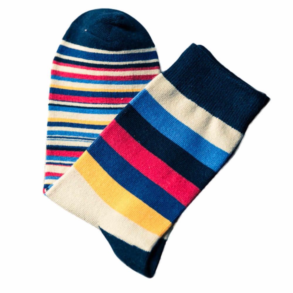 Mannen kleurrijke Gestreepte Herfst Mode Heren Hoge Enkel sokken in buis casual katoen Grappige Gelukkige sokken Mens Wol Kasjmier sneeuw Sok