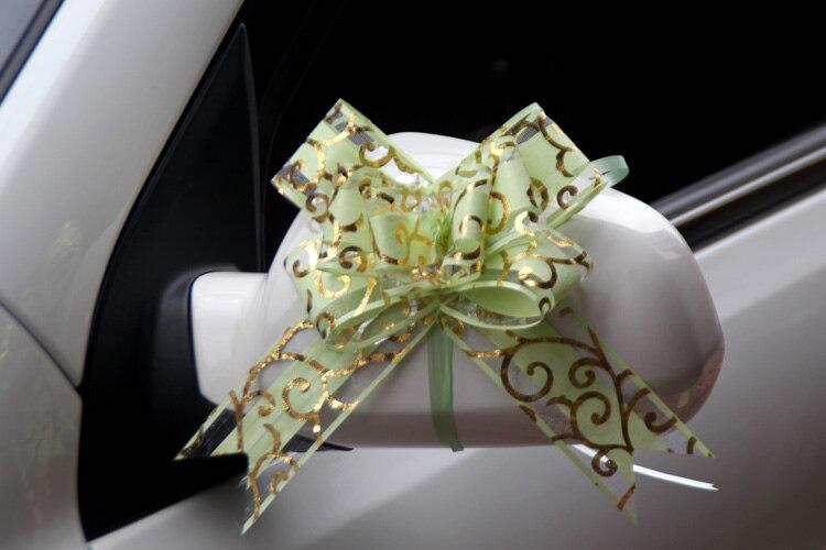 100pcs Mooie roze/rood/paars/blauw/zwart 50mm Pull strik voor boeket Gift verpakking Christmas Party Bruiloft Auto Decoratie - 2