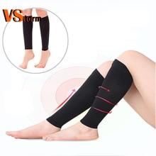 2PCS Weight Loss Elastic Slimming Leg Band  Fitness Socks Compression Socks Leg Shapper Calf Elbow Massager Anti-Varicose Veins