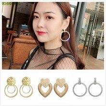 2019 Metal Round Zirconia Earrings Womens Jewellery Stud Earring Zilveren Oorbellen Women Accessories Wholesale Modis Orecchini цена и фото
