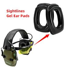 Gel Sightlines Ear Pads For Howard Leight Impact Electronic Shooting Tactical Headset Silicone Replace the earmuffs