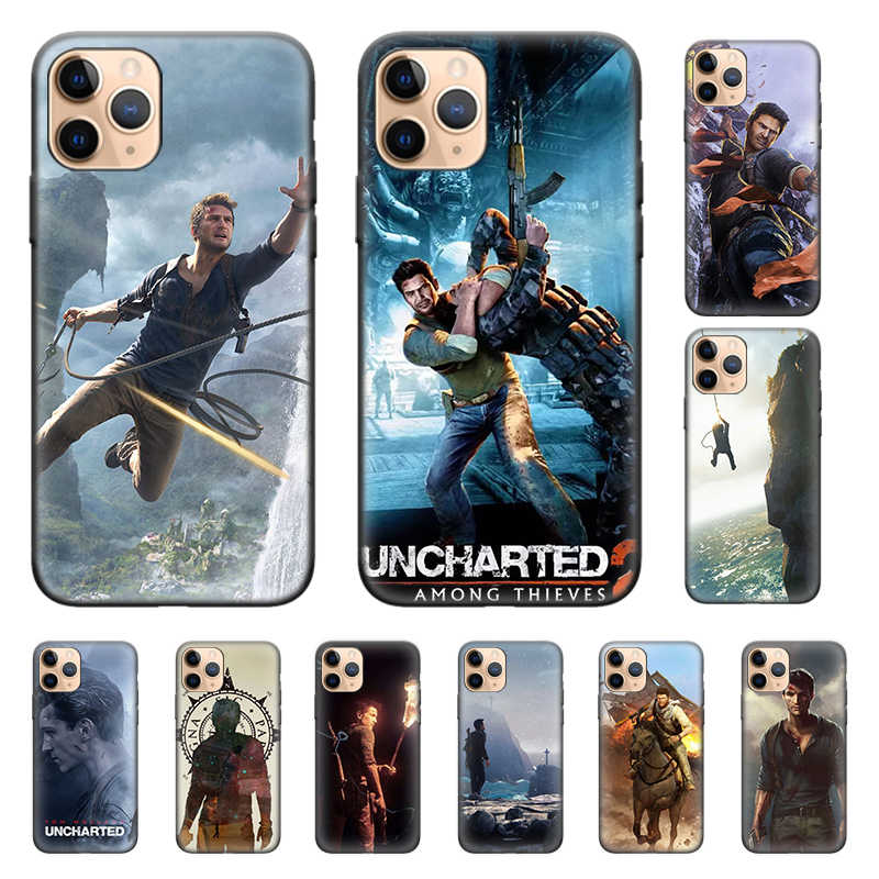 Uncharted 4 A Thiefs End Silicone Phone Shell Case untuk iPhone 11 11Pro X XR X MAX 7 7Plus 8 8 PLUS 6 6S PLUS 5 5S Penutup Couqe