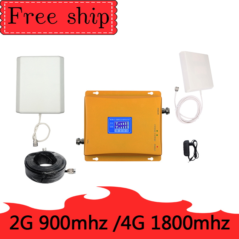 TFX-BOOSTER GSM 900 DCS LTE 1800  4G Mobile Phone Signal Booster 70dB Gain 2G 4G Cellphone Cellular Amplifie Dual Band Repeater