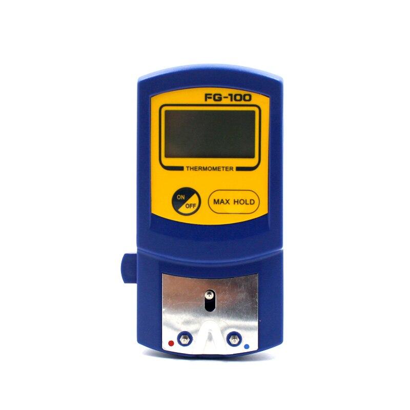 Цифровой термометр, измеритель температуры с наконечником паяльника, K-образный, с 10 датчиками температуры
