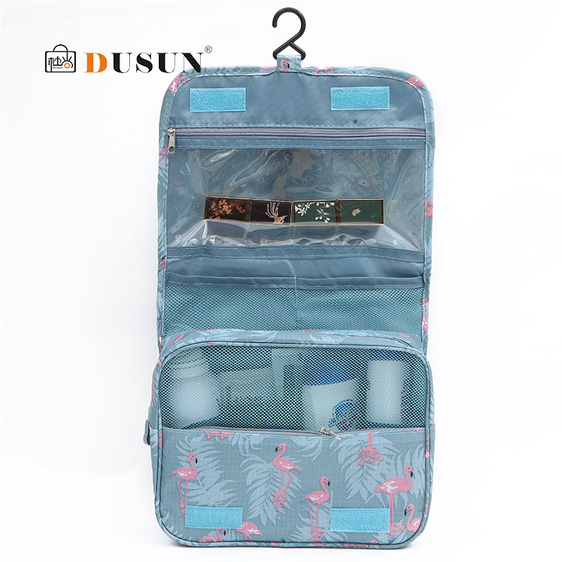 Fashion Polyester Cosmetic Bag Bathroom Travel Makeup Bag Organizer Neutral Make Up Box Neceser Beauty Case Hanging Toiletry Bag