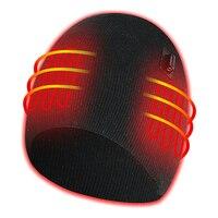 PARATAGO Winter Elektrisch Beheizt Hüte Männer Frauen USB Heizung Caps Outdoor Sport Wärme Hut Radfahren Wandern Winddicht Ski Kappe P10101