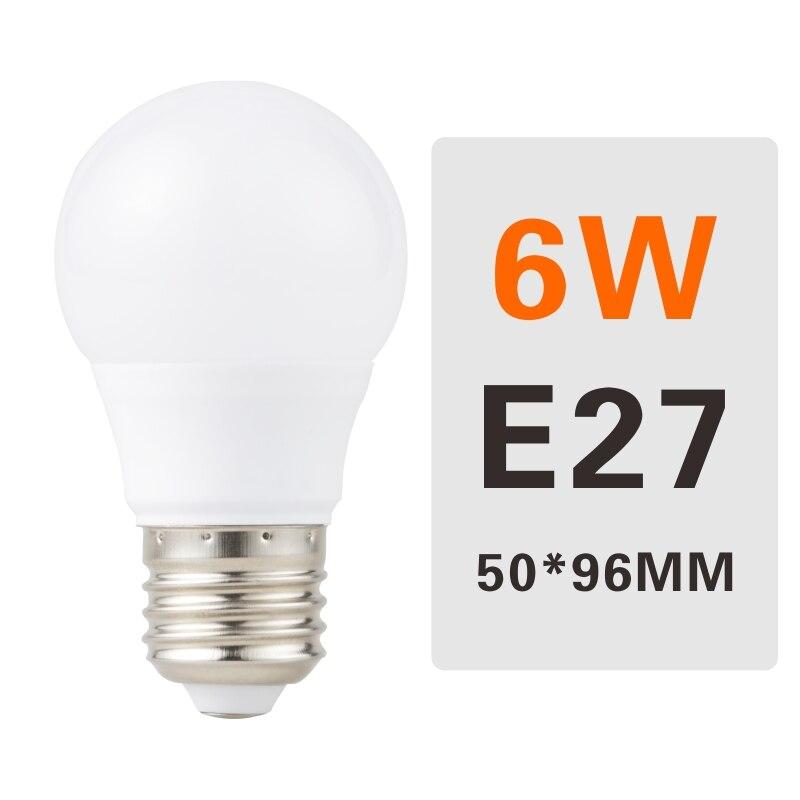 E27 E14 LED Bulb Lamps 3W 6W 9W 12W 15W 18W 20W Lampada Ampoule Bombilla LED Light Bulb AC 220V 230V 240V Cold/Warm White - Испускаемый цвет: 6W E27