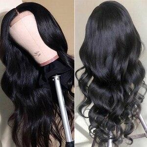 Парики из натуральных волос 4x4, волнистые человеческие волосы с детскими волосами, предварительно сорванные индийские парики из натуральны...