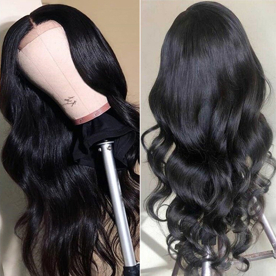 Closure Wig Lace Closure Human Hair Wigs Body Wave Human Hair Wigs With Baby Hair Pre Plucked Indian Lace Closure Wigs Non Remy