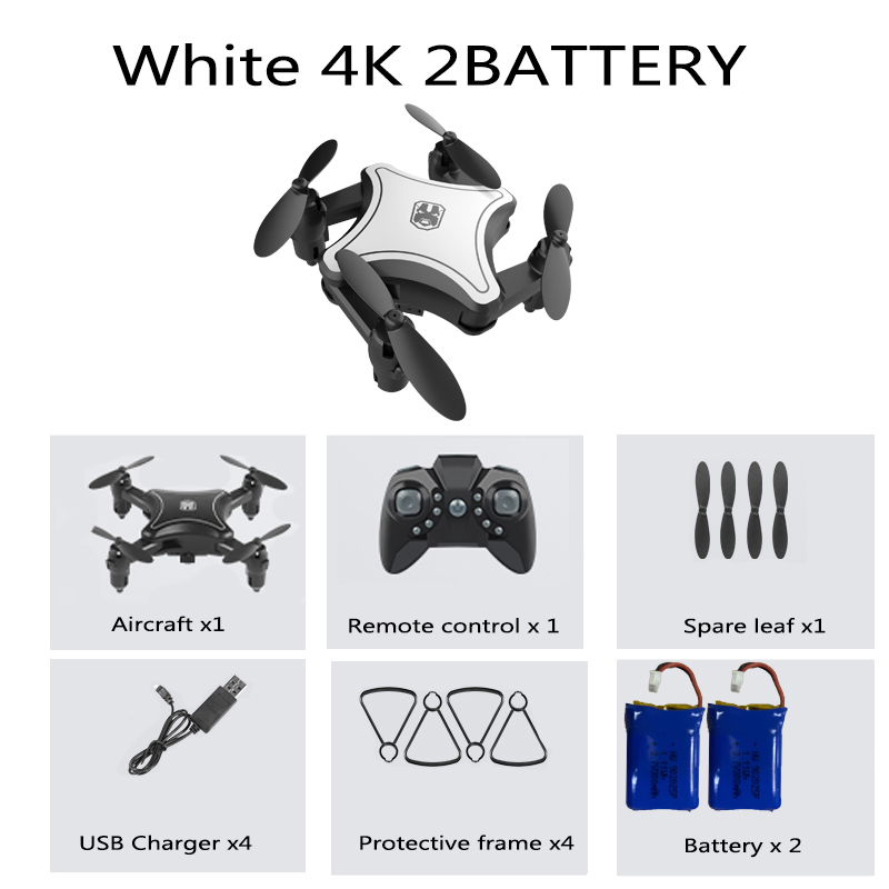 KY902 Mini Drone with 4K Camera HD Foldable Drones Quadcopter One-Key Return FPV Follow Me RC Helicopter Quadrocopter Kid's Toys