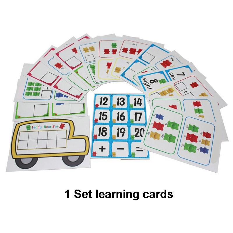 1 набор, счетные медведи, штабелирование чашек-Монтессори, радужная игра, обучающая Сортировка цветов, игрушки для малышей - Цвет: Set C