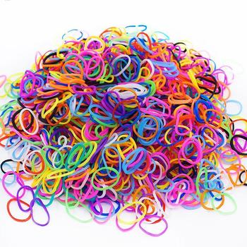 1200pcs Rubber Loom DIY Patience Toys For Children Lacing Bracelet Silicone Rubber Bands Elastic Rainbow Weave Gifts DIY Toys
