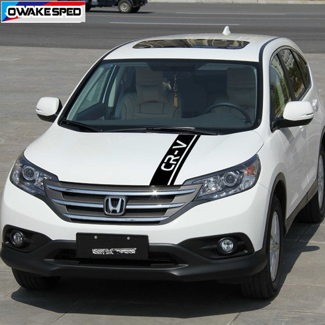 Car Hood Bonnet Sticker Auto Engine Cover Decor Vinyl Decal For Honda-CR-V SUV Racing Sport Stripes Limited Edition 4