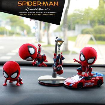 Spiderman samochodu pouruszająca głową lalka dekoracja wnętrz Marvel dekoracja wnętrza samochodu dekoracja wnętrz artykuły samochodowe akcesoria do wnętrz samochodowych tanie i dobre opinie Disney CN (pochodzenie) Światłowód plastikowy 110g