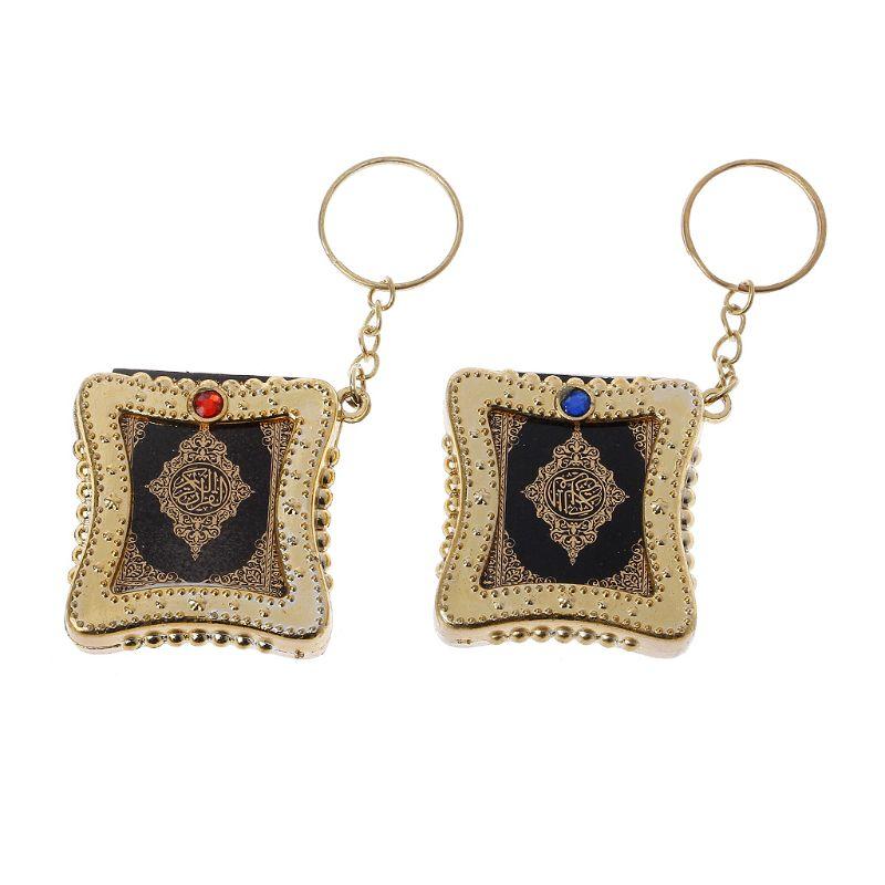 Fashion Keychain Mini Ark Quran Book Koran Pendant Muslim Keychain Bag Purse Car Decor JewelryKey Chains