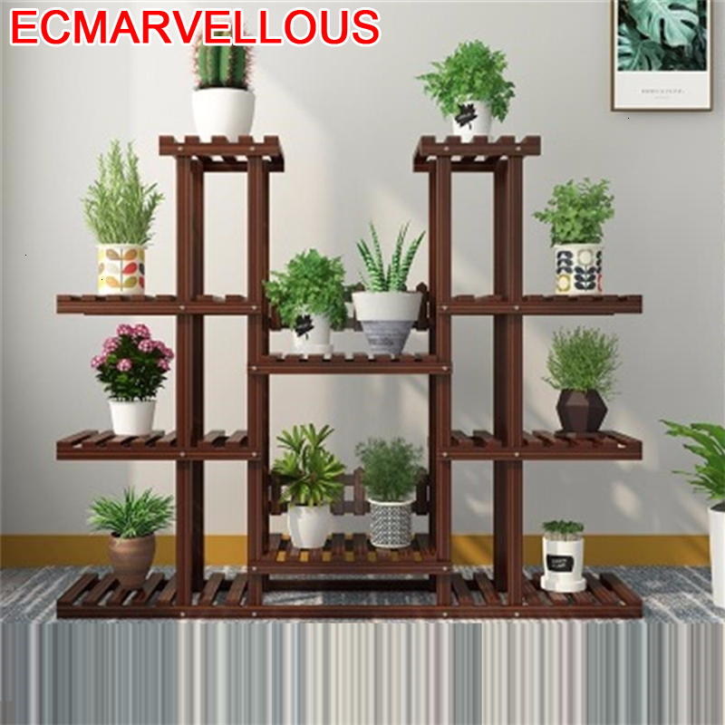 Shelves For Wood Soporte Interior Estante Para Flores Estanteria Plantas Rack Outdoor Stojak Na Kwiaty Flower Shelf Plant Stand