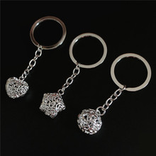 Key-Chain 925-Silver Souvenir Gifts Hollow-Ball Novelty Creative New-Arrival