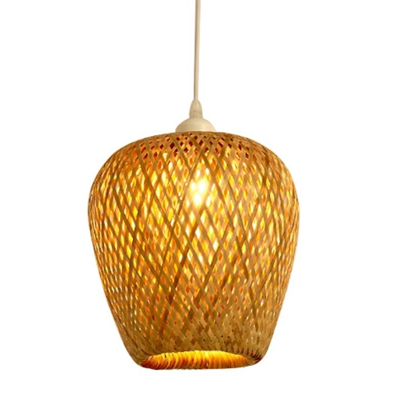 Modern Bamboo Work Hand Knitted Bamboo Weaving Chandelier Restaurant Handmade Bamboo Lantern Chandelier Hotel Inn Restaurant Dec