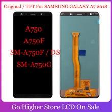 Оригинальный/TFT для SAMSUNG GALAXY A7 2018 A750 A750F SM A750F / DS SM A750G, ЖК дисплей, сенсорный экран с рамкой A7 2018