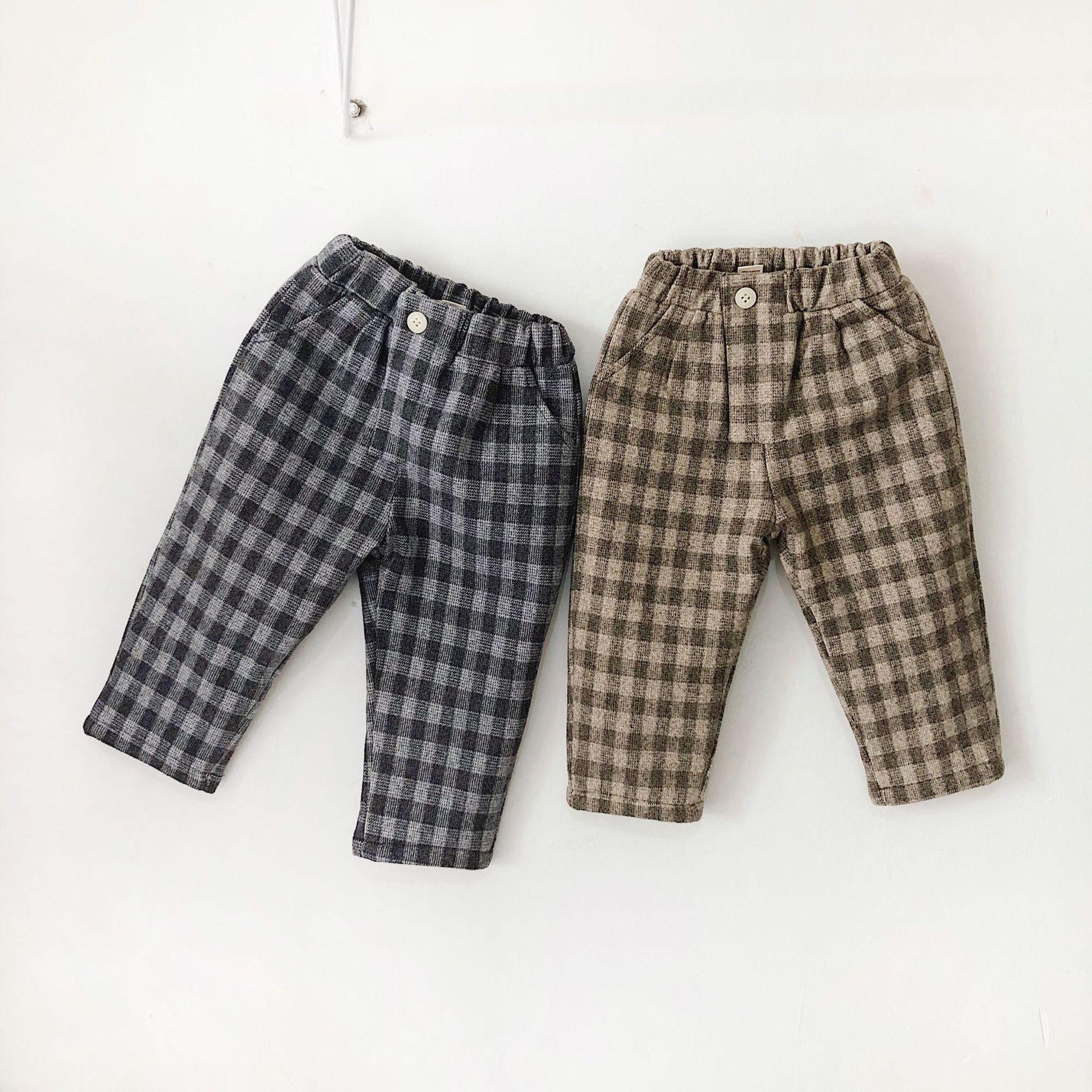 Unisex plaid pants