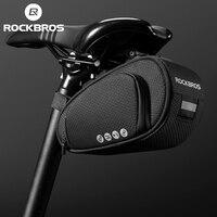 ROCKBROS Rainproof Bicycle Bag Shockproof Bike Saddle Bag For Refletive Rear Large Capatity Seatpost MTB Bike Bag Accessories 1