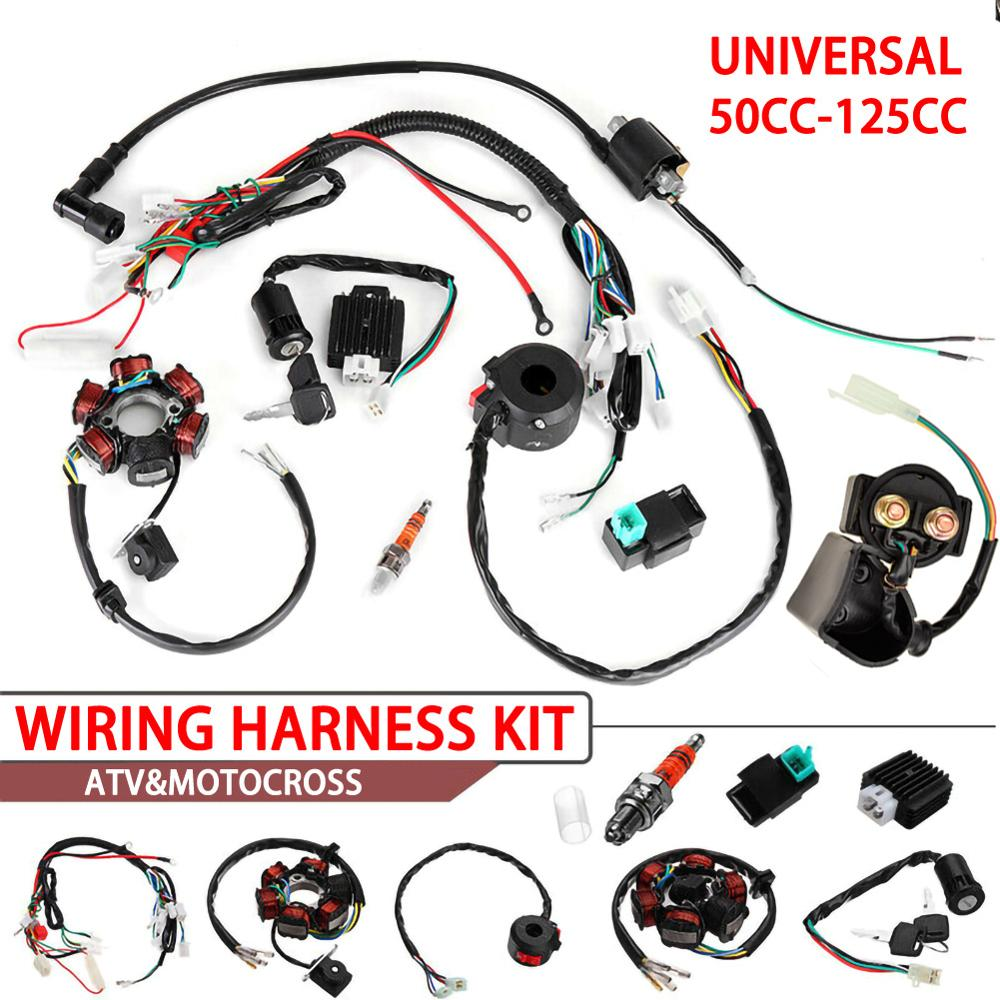 Complete Electrics Wiring Harness Loom CDI Coil high quality accessory part suitable For ATV QUAD 150/200/250/300CC Dropshipping