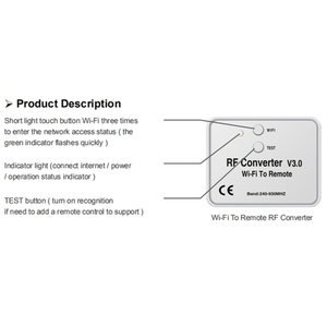 Новый универсальный беспроводной Wifi в RF конвертер телефон вместо дистанционного управления 240-930 МГц для умного дома