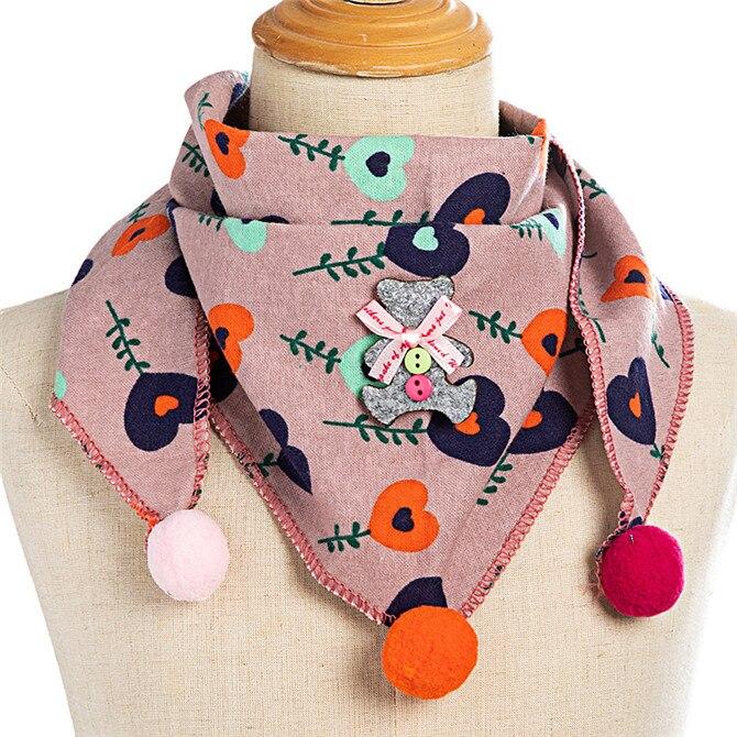 Весенние клетчатые треугольные шарфы в горошек для маленьких девочек; осенне-зимняя шаль для мальчиков и девочек; Детские хлопковые воротники; теплый детский шейный платок - Цвет: C7